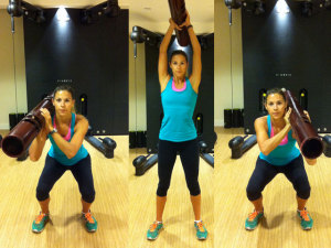 ViPR Squat Shoulder Press