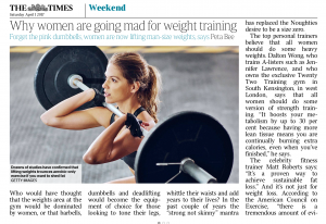 The Times Women Weightlifting